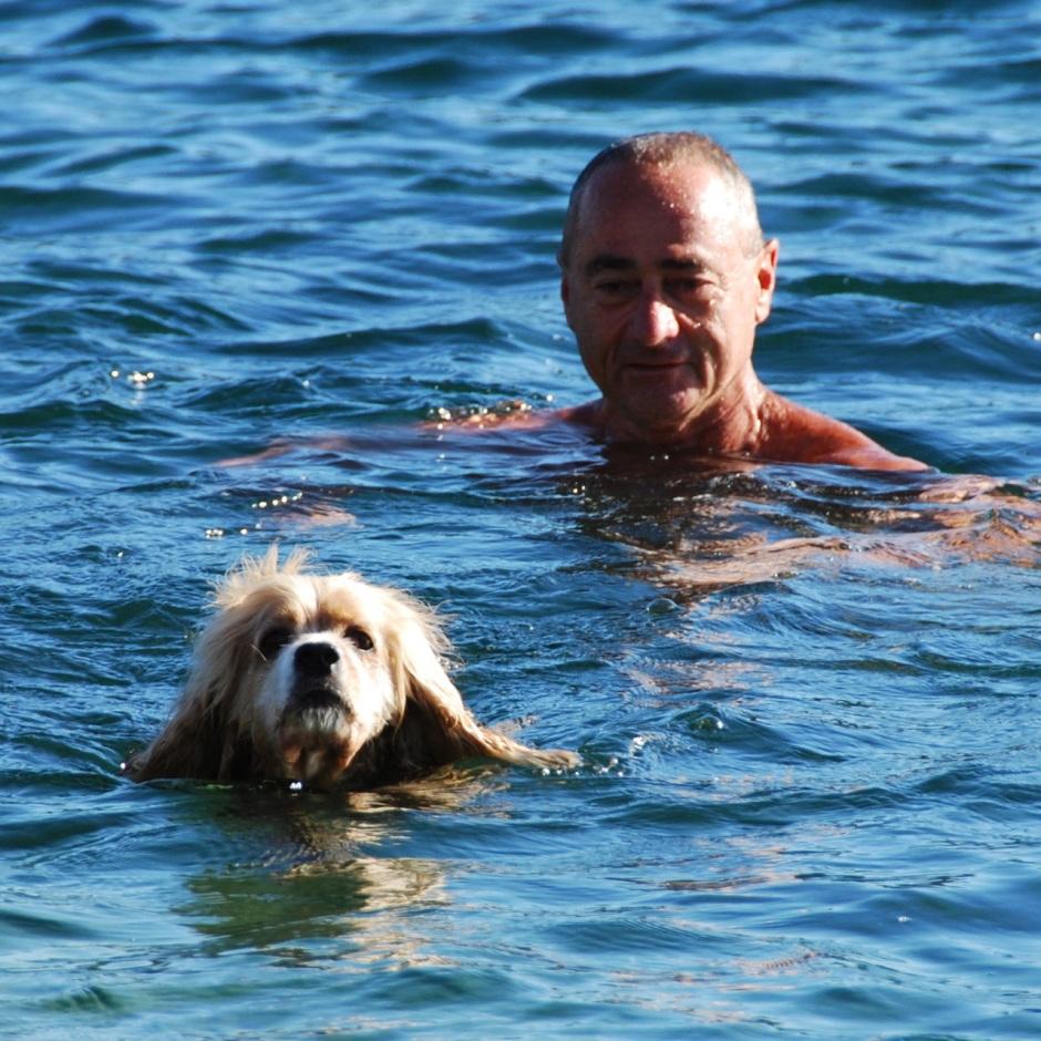 keith and bingo swimming at malabar