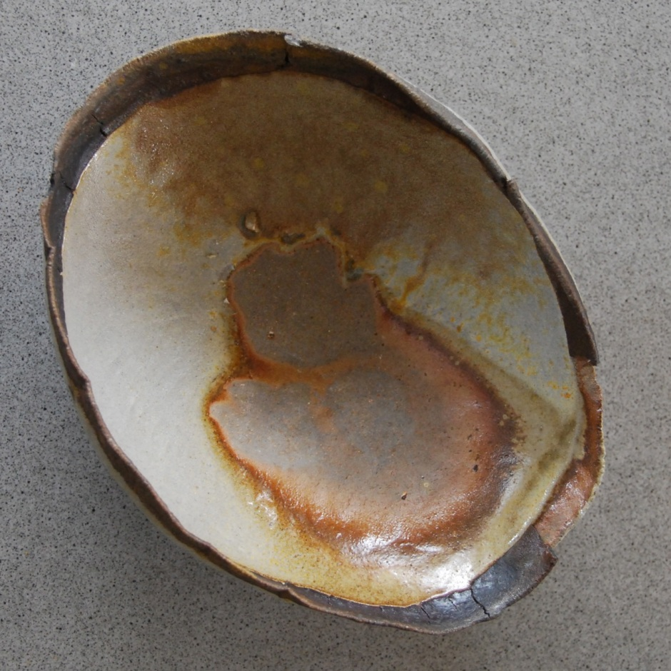 Broken woodfired bowl by Vicki Grima