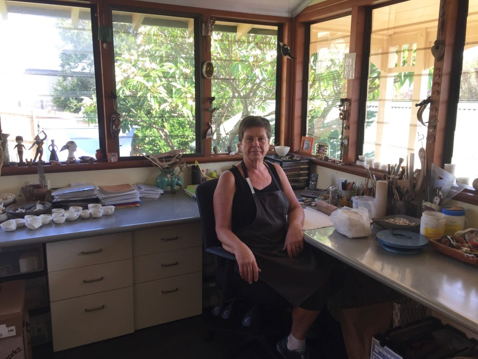Vicki in studio